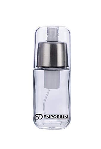 SD Emporium - Premium Speiseöl Sprayer & Öl-Sprühflasche aus langlebigem Glas mit Anti-Verstopfungs-Filter und Edelstahl-Kappe 180ml BPA kostenlos Olivenöl Essig Öl Sprüher Spender Zerstäuber