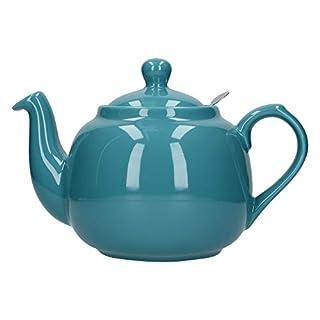 London Pottery Farmhouse Loose Leaf Teapot with Infuser, Ceramic, Aqua, 6 Cup (1.6 Litre)