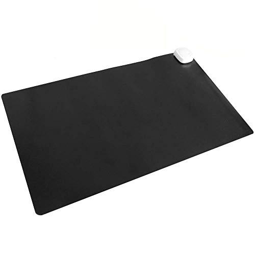 PrimeMatik - Heizteppich Thermisches Heizmatte Beheizter Teppich Pad-Schreibtisch 60x36cm 85W schwarz