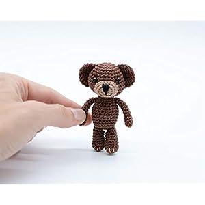 Teddy Schokolade, Miniatur Amigurumi Bär, häkeln Baumwollspielzeug, perfektes Geschenk für sie
