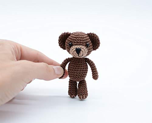 Teddy Schokolade, Miniatur Amigurumi Bär, häkeln Baumwollspielzeug, perfektes Geschenk für sie -