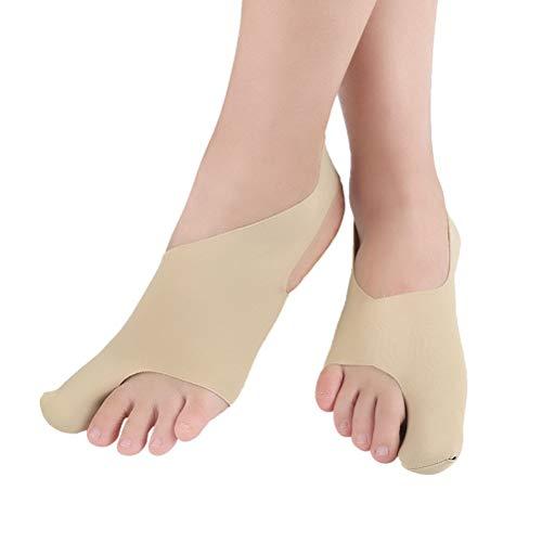 Healifty Hallux Valgus Zehenspreizer Fußschiene Nachtschiene Socken Zehen Separatoren Werkzeug Fußpflege (Khaki Größe S)
