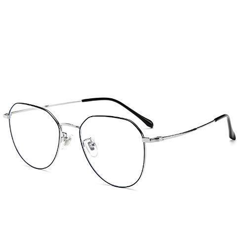 Anti-Blaulicht Brille High-Definition PhotosensitiveAnti-FatigueAnti Brillenglas Lesung Video Brillen [Anti Eye Fatigue] Vintage Brillen Polygonal Titanlegierung Glas Unisex (Männer/Frauen)-2 High-definition-video-filter