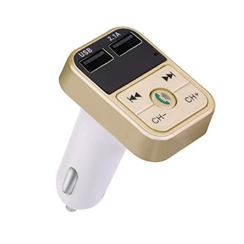 MMLC Car Kit Freisprecheinrichtung Wireless FM Transmitter LCD MP3 Contender USB Ladegerät Car Charger Car MP3 Trouper (Gold)