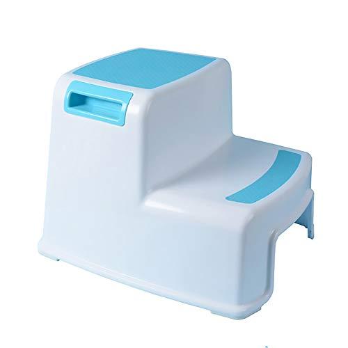 WINTER DONG Kinderhocker mit doppelter Höhe mit Rutschfester Oberfläche für kleine Kinder, Übungssitz für rutschfeste Toilette