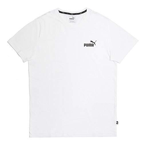 PUMA Herren ESS S Logo Tee T-Shirt, Weiß (Puma White), L