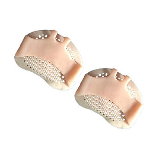 Level 1 Paar Gel-Zehe Separator Bunion Splint Beehive geformte Vorderpfoten Sleeve Kissen Füße Schmerzlinderung Mittelfuß-Pads - Lang Anhaltende Schmerzlinderung