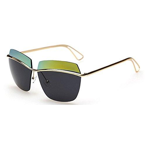 Sonnenbrille Zwei-Ton Reflektierende Linse Vintage Retro Style Classic Frame Unisex UV400 Schutz (Color : PINK)