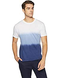 Cloth Theory Men's Tie-Dye Regular Fit T-Shirt White