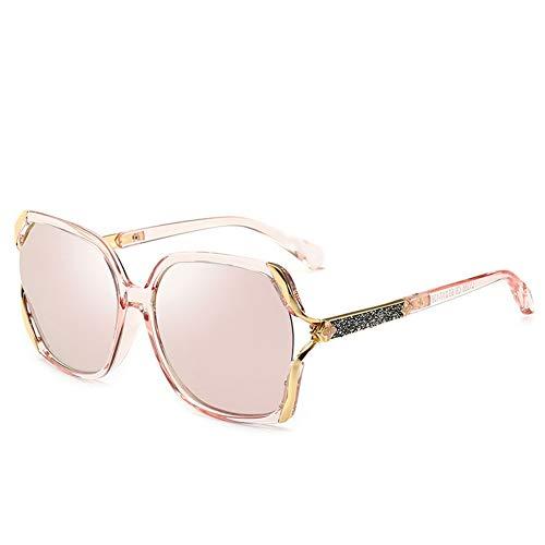 Bunte Polarisierte Sonnenbrille Frauen Großen Rahmen Sonnenbrille UV-Schutz, Geeignet Für Dekoration, Reisen, Sonnenschutz, Fahren.Geeignet Für Eine Vielzahl Von Gesichtstypen. ( Color : Pink )