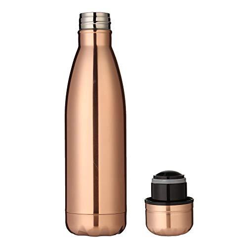 JIAOJIAN Bottiglia d'Acqua Portatile dell'isolante di Viaggio di Sport dello Specchio di Doppio Strato Creativo di Sport D 500ml