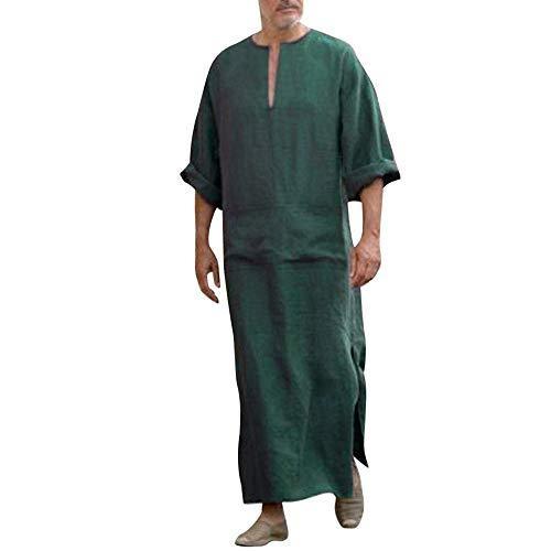 Il caftano etnico degli uomini, gli uomini costumes il pezzo unico allentato del manicotto del manicotto del vestito casuale d'annata medio oriente saudita araba abiti