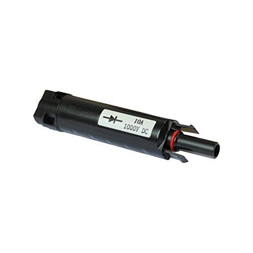 mc4-compatible Adapter mit 10A Sperrdiode für Anschluss von mehreren Solarzellen zu der selben Solar Charge Controller