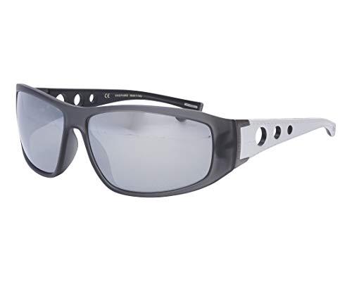Chopard Sonnenbrillen (SCH-194 4-ARG) grau - weiß - graufarben polarisierte mit verspiegelt effekt