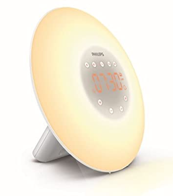 Philips Wake-Up Light Alarm Clock HF3505/01 with Sunrise Simulation - 2 Natural Sounds and Radio - inexpensive UK light store.