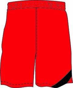 Kempa Herren Circle Shorts rot-schwarz