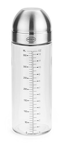 Rösle 16576 Dressing Shaker, Edelstahl, silber, 6,5 x 6,5 x 21,0 cm, 2 Einheiten