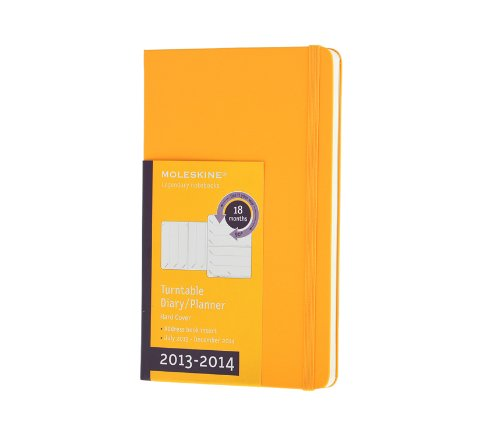 Moleskine - Agenda (18 Meses, Una Semana Por Página, 21 X 13 Cm, Girable), Color Amarillo