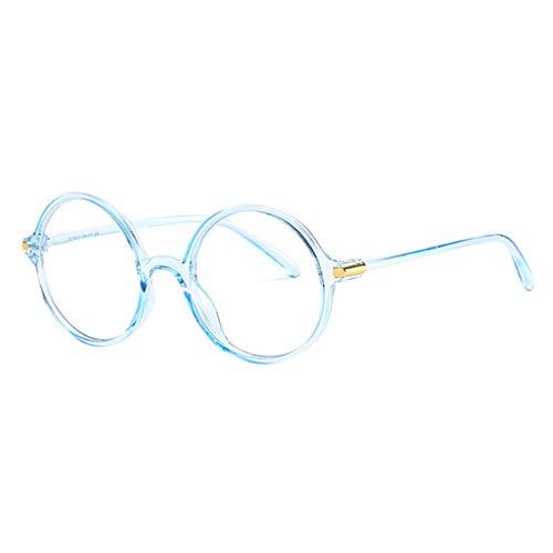 Dorical Unisex Anti Blaulicht Computer Brillen Klassische Nerdbrille Rund Entlasten und schützen Sie Ihre Augen für Damen Herren(Blau)