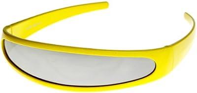 zeroUV-Narrow futurista Cyclops-novedad fiesta escudo gafas de sol