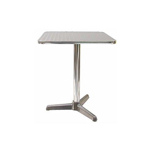 Tavolo tavolino quadrato con piede centrale per Bar Bistrot Alluminio 60x60 interno e esterno balcone casa giardino