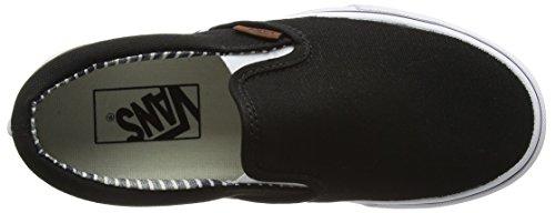 Vans Unisex Erwachsene Classic Slip-On Sneakers Schwarz (c&l/black/stripe Denim)