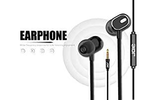 Nwark/Joie® Present 3.5MM Earphones [Upgraded Pro Version] Wired in-Ear Earbuds w/Mic, Noise Cancelling Sports Earphones Compatible with All 3.5 mm Jack Mobile Phone (Black Colour)