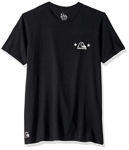 Schwarzer Herren Short Sleeve Tee (Quiksilver Herren Black Stars Short Sleeve Tee Hemd, schwarz, XX-Large)
