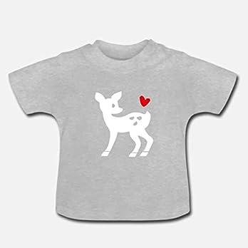 Baby T-Shirt Motivfarbe wählbar >Reh< / Unisex, Jungs, Mädchen, Weiß, Bambi, München, Bayern, Ostern, Easter, Mother's Day, Geburt, Baby, Geschenk, Geburtstag, Present, Birthday