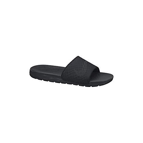 Nike Benassi Solarsoft - Chanclas Hombre, Negro, 42 1/2
