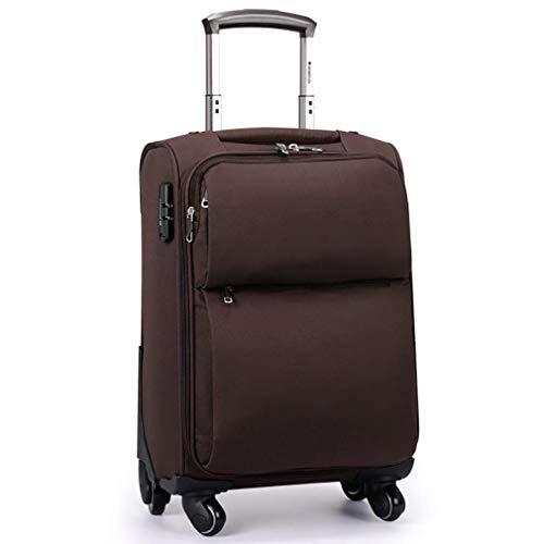 Gepäck Koffer Stilvolles Gepäck, Faltbarer, Abnehmbarer Sitzkoffer, Leichter und langlebiger Passwort-Koffer zum Reisen (Farbe : Brown, Größe : 22)