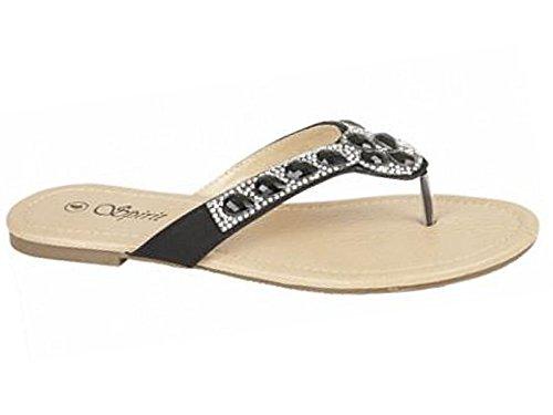 Foster Footwear ,  Mädchen Damen hinten offen Bojangles: Black