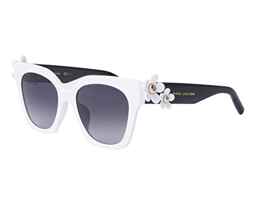 Marc Jacobs Daisy/S CCP White / Black Daisy/S Square Sunglasses Lens Category 3 Size 52mm