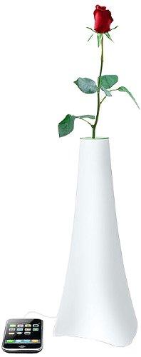 Muse ML-50 SF, Altoparlanti con luce multicolore a forma di vaso, con docking station per iPod/iPhone, colore: