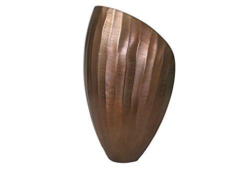 GILDE Design Vase Flutto in Kupfer, Maße ca.: 10×18×29 cm