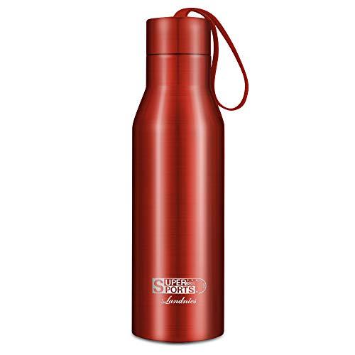 Landnics Vacuum Bottiglia in Acciaio Inossidabile per Acqua 24 Ore Freddo & 12 Caldo BPA Acciaio Inox per Ufficio, All'aperto, Cucina,Campeggio o Gli Sport 720ml / 25oz