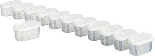MiraHome Gewürzdosen Schüttdosen Streudosen Vorratsdosen 0,14l 12er Set weiß Austrian Quality
