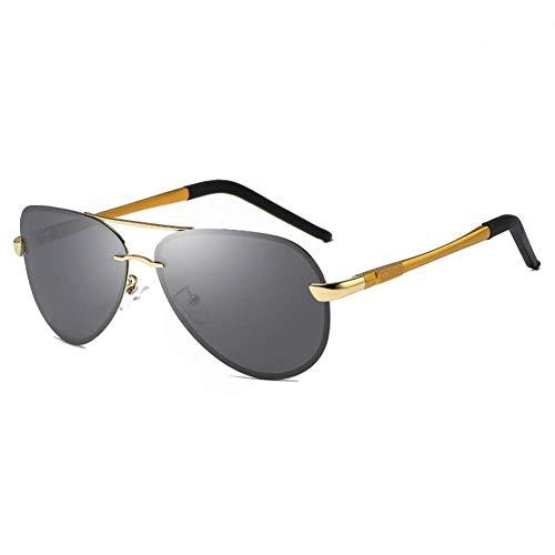 GEETAC Herren Aviator Polarized Sonnenbrille UV 400 Schutz Anti-Rutsch-Fahren Angeln Golf Mode Sonnenbrillen für Männer,Gold