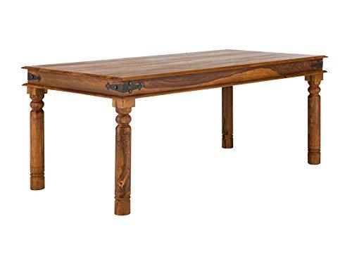 massivum Esstisch Merlin 150x76x90 cm aus Massiv-Holz Palisander und Akazie braun Sheesham rustikal