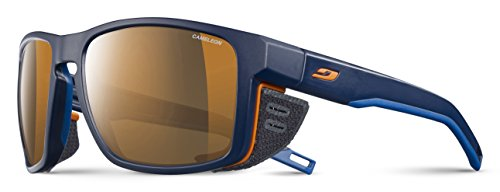 Julbo Shield Sonnenbrille Unisex, Uni, Shield, Bleu/Bleu/Orange