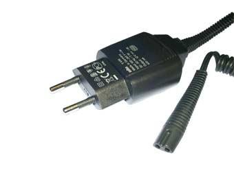 Cable de alimentación IPX4para afeitadora Braun,  compatible con los modelos CONTOUR / CONTOUR CLASSIC / CONTOUR SPORTIVE / CRUZER 1 / 2 / 3 / FLEX XP / FLEX XP II / FREEGLIDER / SERIES 1 / SERIES 3 / TRI CONTROL, 5708 5710 5713 5714 5716 5717 5719 5720 5722 5723 5724 5726 5727 5729 5732 5733 5735 5736 5738 5739 5775