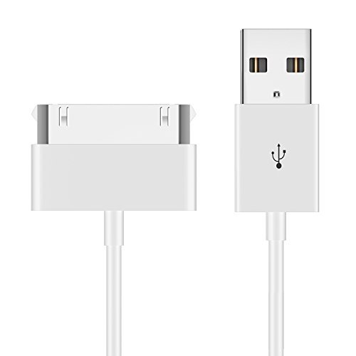 iPhone 4s cable, JETech 1m Cable de Datos de USB Cable de Carga Cargador Cable para iPhone 4/4s, iPhone 3G/3GS, iPad 1/2/3, iPod (Blanco)