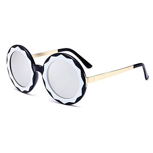 XHCP Frauen Klassische Sonnenbrille Blume Objektiv Stilvolle Runde Form Dame 's Sonnenbrille UV400 Schutz Für Outdoor Fahren Radfahren Laufen Angeln Golf (Farbe: C6)