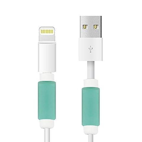 BUTEFO 2 PCS Aufladung Kabel Schutz Saver- Apple iPhone USB Lightning Kabel Schutz-Schützen Ihre OEM USB Daten Kabel für 4 4s 5 5c 5s 6 6+ Plus Phone-[Neues Design]