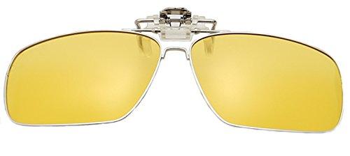 Attcl Polarisierte hochklappbare Sonnenbrille, Unisex, gelb