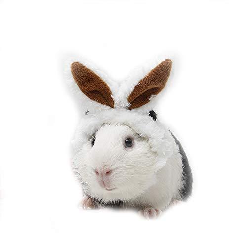 Dreamls Haustierhut, Hamster, weiche Kopfbedeckung, verstellbar, Plüsch, Kaninchenohren, Party, Kostüm für kleine - Kostüm Kaninchen Loch