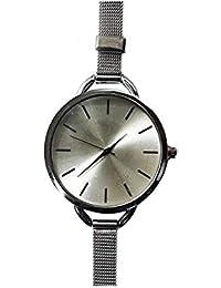 Fusine Big Dial Analog Watch With Silver Metal Strap Girls, Women's Wristwatch (Silver)