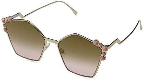 Fendi ff 0261/s 53 000 57 occhiali da sole, oro gold/rose, donna