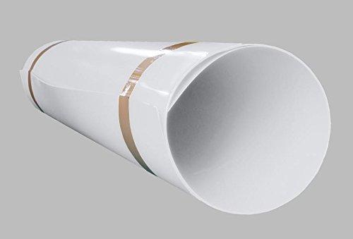 A+H Hart PVC Kunststoffplatte 2000x1000x1 mm mit einseitiger Schutzfolie - Farbe Weiß Weiße Platte