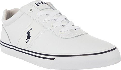 Ralph Lauren Polo Halford Weiss Leder Sneaker Schuhe , Mass:45 EU